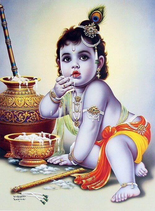 cute picture of Krishna download
