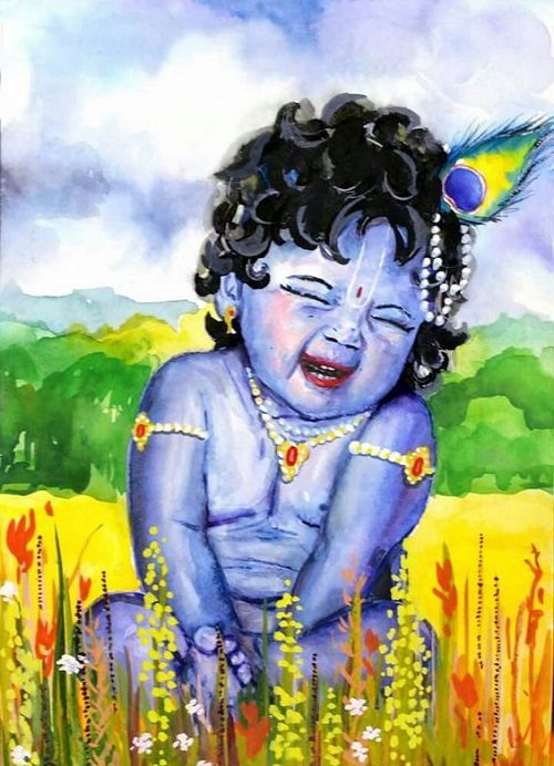 unique pic of Krishna download